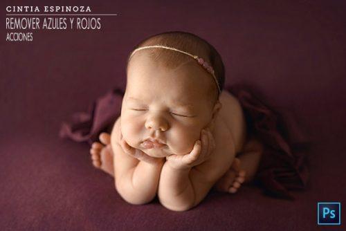 Fotografia newborn, edición para remover azules y rojos by Cintia Espinoza
